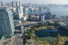 Горизонт города токио стоковые изображения rf