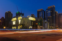 Горизонт города taichung, Тайваня стоковая фотография