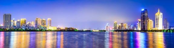 Горизонт города Xiamen, Китая стоковое фото