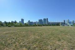 Горизонт городского Ванкувера Канады Стоковые Фото