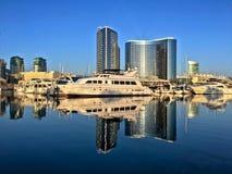 Горизонт городского города красивый, Сан-Диего, Калифорния, США Стоковое Изображение RF