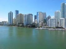 Горизонт городского Майами, Флориды Стоковая Фотография RF