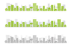 горизонт x 3 городского пейзажа стоковые изображения