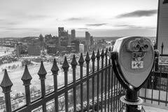 Горизонт городского Питтсбурга стоковая фотография rf