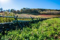 Горизонт гор голубого Риджа в Вирджинии на Na Shenandoah Стоковые Изображения