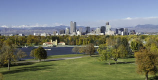 Горизонт Денвера Колорадо Стоковая Фотография