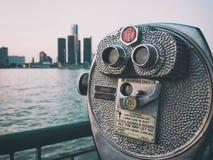 Горизонт Детройта Sightseeing Стоковая Фотография