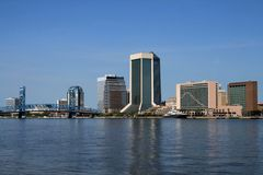 Горизонт Джексонвилл Флорида Стоковое Изображение RF