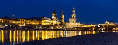 Горизонт Дрезден на twilight часе Стоковое фото RF