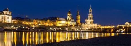 Горизонт Дрезден на twilight часе Стоковое Изображение RF
