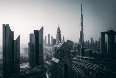 Горизонт Дубай, городской центр города стоковое изображение rf