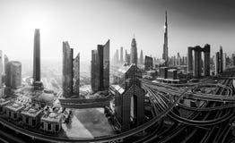 Горизонт Дубай, городской центр города стоковые фото