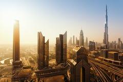 Горизонт Дубай, городской центр города стоковое фото