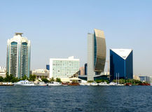 горизонт Дубай заводи стоковые изображения rf