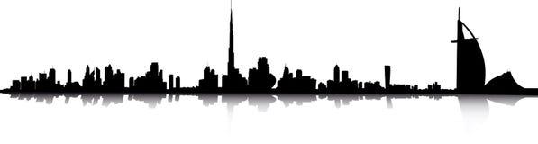 горизонт Дубай Стоковые Фотографии RF