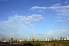 Горизонт Дубая Стоковые Фотографии RF