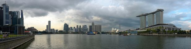 Горизонт залива Марины в Сингапуре Стоковые Изображения