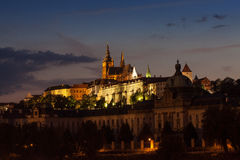 Горизонт замка Праги Стоковое Изображение RF