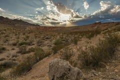 Горизонт захода солнца горизонтальный Стоковые Фото