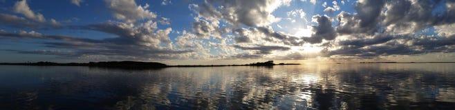 Горизонт захода солнца Стоковая Фотография RF