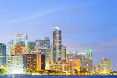 Горизонт зданий на районе Brickell в Майами стоковое фото rf