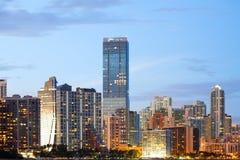 Горизонт зданий на районе Brickell в Майами стоковые фотографии rf