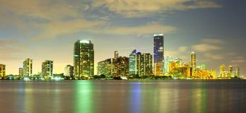 Горизонт зданий на районе Brickell в Майами стоковые изображения rf
