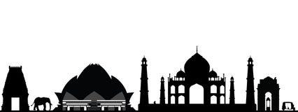 Горизонт Индии Нью-Дели иллюстрация штока