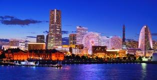 Горизонт Иокогамы Стоковое Изображение