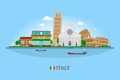 Горизонт Италии вектора Стоковые Изображения RF
