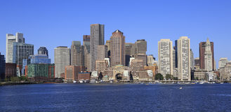 Горизонт и гавань Бостона стоковые фото