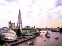 Горизонт и здание муниципалитет Лондона стоковая фотография rf