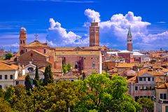 Горизонт и крыши Венеции стоковое фото rf