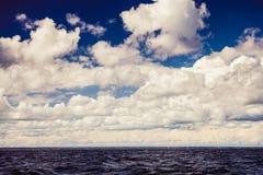 Горизонт и небо моря Seascape Стоковые Фото
