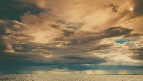 Горизонт и небо моря Seascape Стоковое Изображение