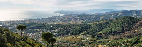 Горизонт и побережье Барселоны Стоковая Фотография RF