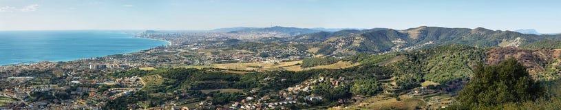 Горизонт и побережье Барселоны Стоковое Фото