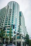 Горизонт и улицы города Сиэтл Вашингтона Стоковое Фото