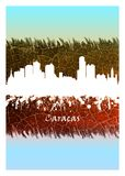 Горизонт Каракаса голубой и белый бесплатная иллюстрация