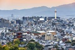 Горизонт Киото Японии стоковые изображения rf