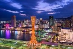 Горизонт Кобе Японии стоковая фотография rf
