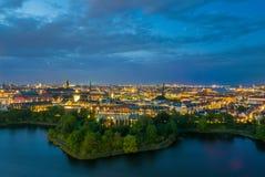Горизонт Копенгагена городской Стоковая Фотография