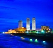 Горизонт Коломбо, Шри-Ланка Стоковое Изображение RF