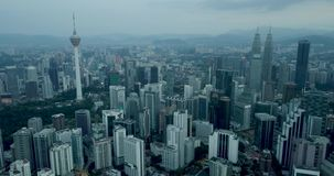 Горизонт Куалаа-Лумпур, Малайзии акции видеоматериалы