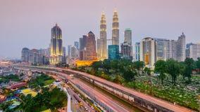 Горизонт Куалаа-Лумпур сток-видео