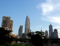 Горизонт Куалаа-Лумпур стоковые изображения rf