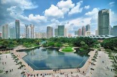 Горизонт Куала Лумпур, Малайзии Стоковое Изображение RF