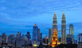 Горизонт Куала Лумпур, Малайзия Стоковая Фотография RF