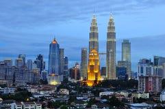 Горизонт Куала Лумпур, Малайзия Стоковые Изображения