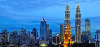 Горизонт Куала Лумпур, Малайзия Стоковое Изображение